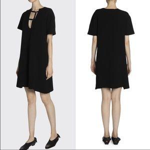 PROENZA SCHOULER Buckle-Neck Jersey Shift Dress